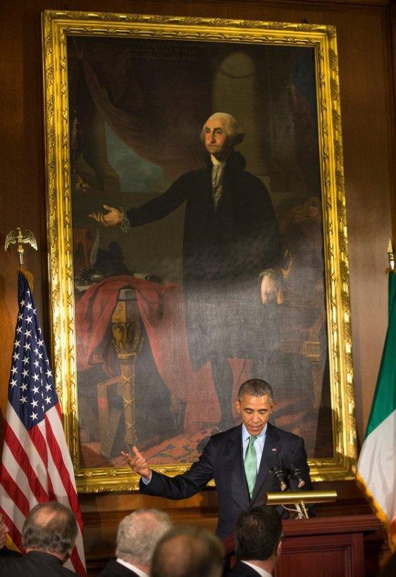 Obama gives speech