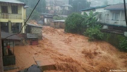 Mud Slide in Sierra Leone
