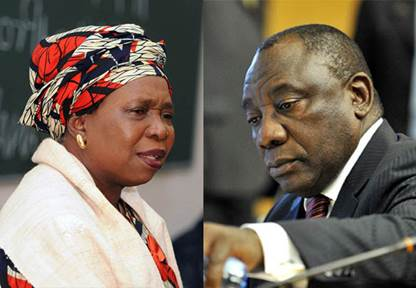 N Diamini-Zuma and C. Ramaphosajpg